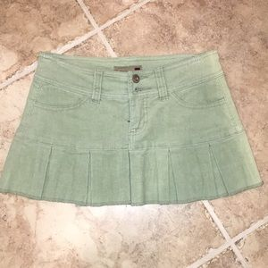 Mint green cord skirt
